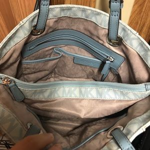 Michael Kors Bags - Light Blue Leather Michael Kors Bag